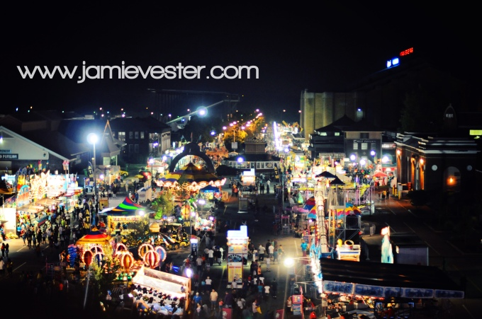 Indiana State Fair Midway at night